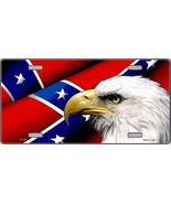 Eagle and Confederate Flag  Tag Sign License Plate - $18.99