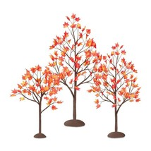 Table Top Maple Leaf Trees Autumn Fall Harvest Thanksgiving Home Decor S... - £17.36 GBP
