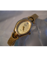 "L57, Armitron Diamond, Ladies 7"" Gold Tone Dress Watch, 1/2 Cuff Band, 7... - $31.87"