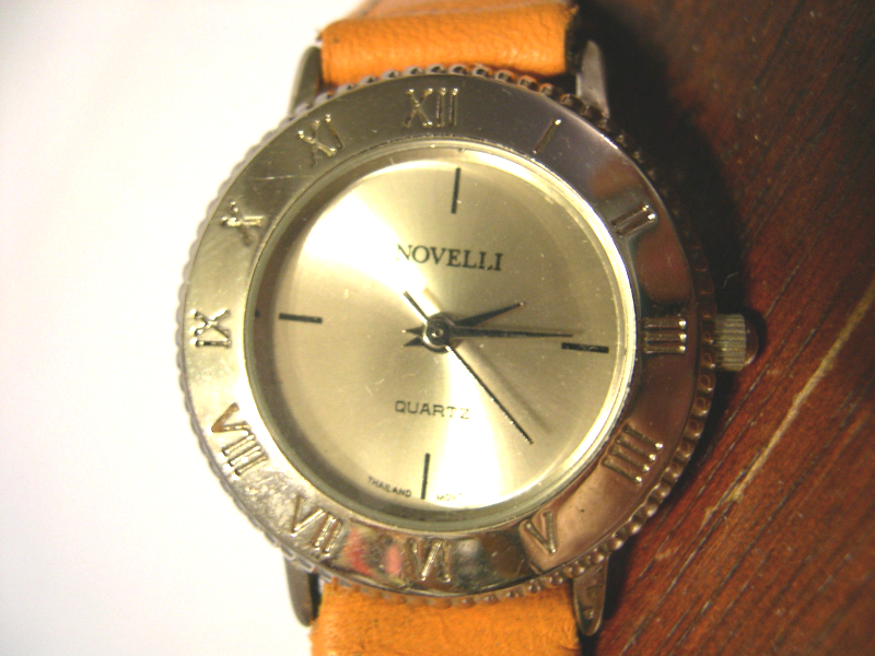 "Primary image for L04, Novelli, Silver Tone Ladies Watch, Silver Face, 7.5"" Band, Rare w/b"