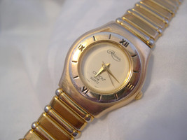 "L69, Croton Reliance, Ladies 6"" Gold Tone Wristwatch,  White Face - $39.79"