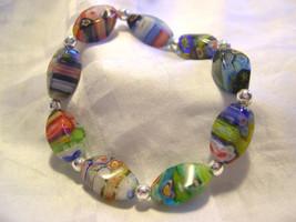 HANDMADE- Ladies Beaded Stretch Bracelet - Murano Beads - Assorted Colors - $15.83