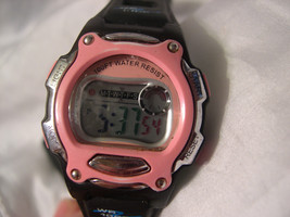 "L33, Athletic Works, 8.5"" Blk. & Pink Silicon Band, Multi Functional, aw60444w - $15.79"