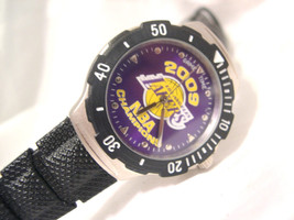 """C07, LA Lakers 2009 Agent Series Watch, 9"""" Blk. Silicon Band, Never Used - $19.79"""