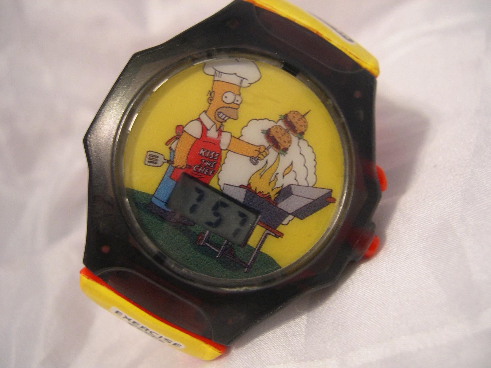 C10, 2003 The Simpsons, Burger Curl Watch, Talks,  Burger King #428 - $4.99