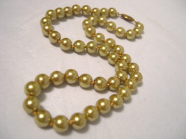 """Faux GOLD Pearl Necklace / Choker - Beautiful Gold Tone Clasp - 16"""" - $11.87"""