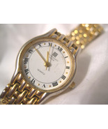 "L62, Givenchy Paris, Gold,Tone 6.5"" Link Band, White Face, D.A.L.90 - $39.59"