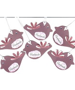 Tags For Handmade Products 6 Pk Maroon Brown Ha... - $2.00