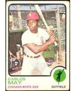 Chicago White Sox Carlos May 1973 Topps Baseball Card 105 good - $0.50
