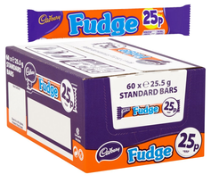 Cadbury Fudge 25p Chocolate Bar (60x 25.5g) - $22.17