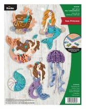 Bucilla 'Sea Princess' Felt Ornament Embroidery Kit- 89269E -Beach Ornam... - $34.99