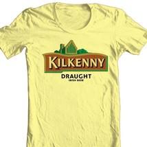 Kilkenny Irish Beer T-shirt bar Ireland 100% cotton graphic printed yellow tee image 1
