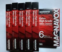 Magnavox Extra High Grade Video Cassette T-120 6 Hour 6 Pack - $13.10
