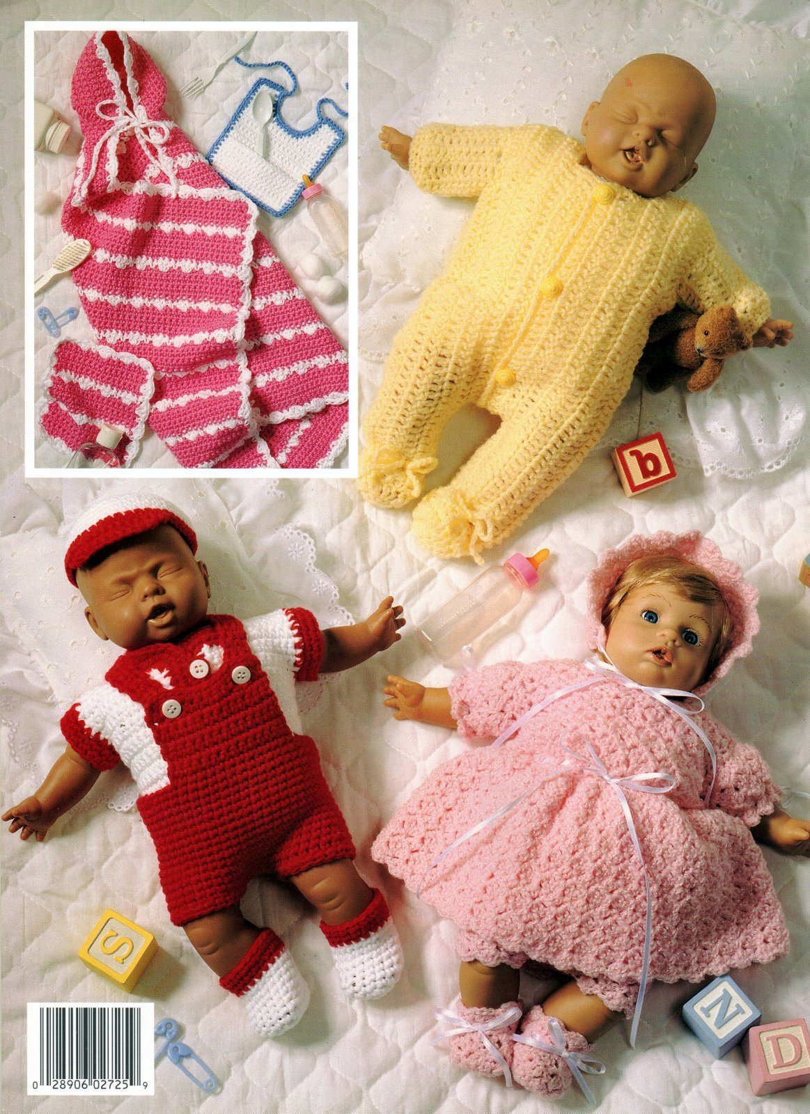 "Primary image for Dressing Up Dolly Leisure Arts Leaflet 2725 Five Crocheted Outfits For 12"" Dolls"