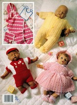 Dressing Up Dolly Leisure Arts Leaflet 2725 Five Crocheted Outfits For 1... - $7.95
