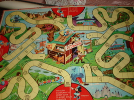 Vintage Mickey Mouse Club In Disneyland Game Board Only Suitable For Framing  - $19.99