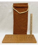"""Cribbage Board Handmade w/ Carrying Pouch Sack Bag Wood Crafted 16"""" x 6""""  - $14.84"""