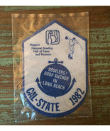 Vintage CAL-STATE 1982 Patch • National Bowling Hall of Fame Long Beach ... - $9.90