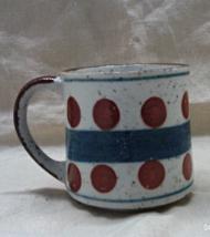 Vintage Mid Century Modern Geometric Design Coffee Mug // Stoneware Coff... - $6.00