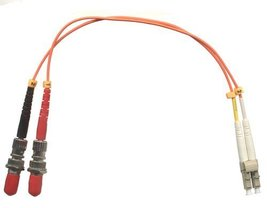 1ft Fiber Optic Adapter Cable LC (Male) to ST (Female) Multimode 50/125 ... - $15.95