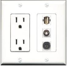 RiteAV - 15 Amp Power Outlet 1 Port USB A-A 1 Port Toslink 1 Port BNC De... - $29.99