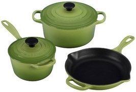 Le Creuset Signature 5-Piece Cast Iron Cookware Set, Palm [Kitchen] - $440.90