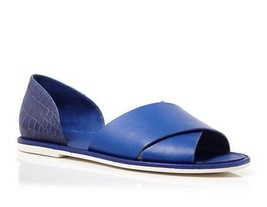 NIB $250 Vince Ida Criss Cross Open Toe Flats in Cobalt 8 - $49.49