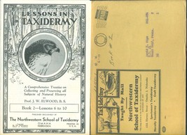 Lessons In Taxidermy Book 2 & Lesson Boon 2 S Vintage Northwestern School Bklets - $9.89