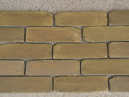 """Antique Brick Veneer Side Molds 8x2"""" Cover Wall Floor Patio, 45+5 FREE Fast Ship image 2"""