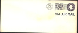 Canal Zone Air Mail Stamped Envelope Overprint First Day Cover Scott #UC5 - $4.99
