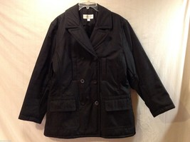 Jones New York Womens Black Winter Coat, Size Large