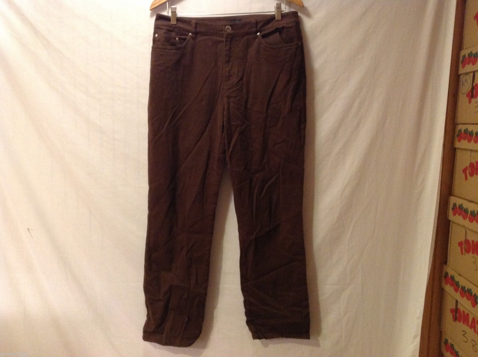 Jones New York Womens Brown Stretch Jeans, Size 10