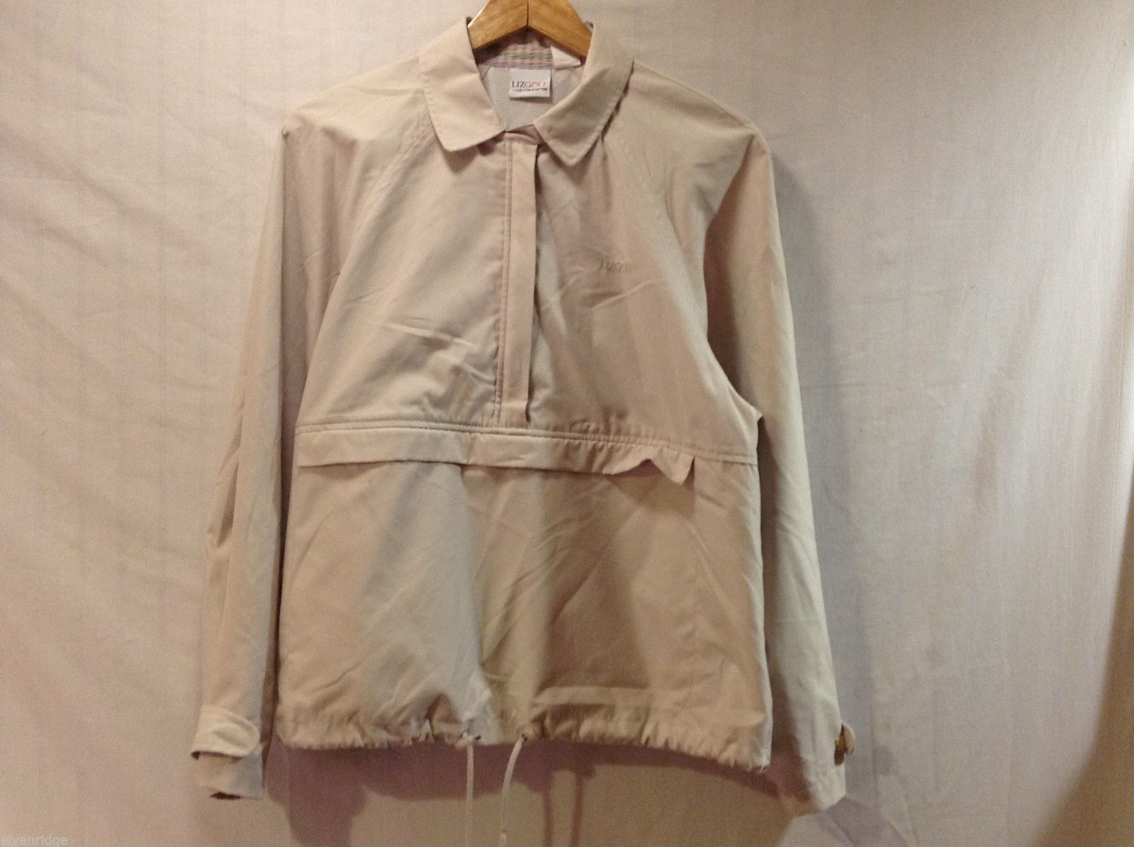 Liz Claiborne Womens Light Tan Windbreaker Jacket, Size Medium