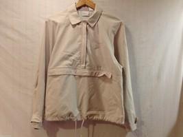 Liz Claiborne Womens Light Tan Windbreaker Jacket, Size Medium - $49.49
