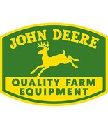 JOHN DEERE Tractor QUALITY Farm Equipment EMBOS... - $44.99