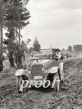 """California Roads 1917 Vintage Old Car """"Jordan"""" Guy & Gal Out for a Drive Photo - $8.90"""