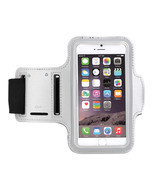 Sports Running Workout Gym Armband Arm Band Case iPhone 6 6S PLUS Silver - ₨376.52 INR