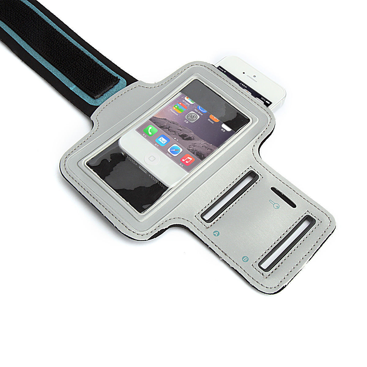 Sports Running Workout Gym Armband Arm Band Case iPhone 6 6S PLUS Silver