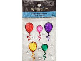 Recollections Balloon Adhesive Rhinestone Stickers #150624
