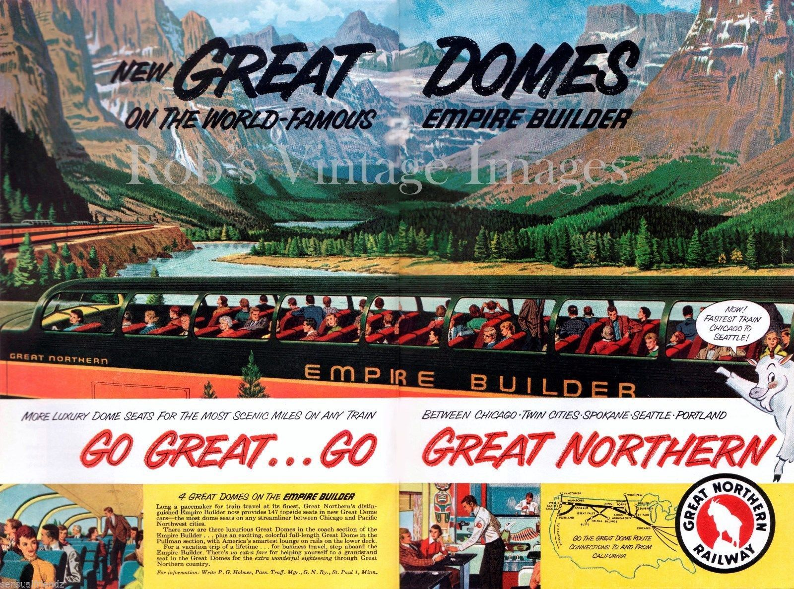 Great Northern Railroad Empire Builder Domes and similar items