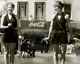 Roaring 1920s Flapper Girl's photo by Coca Cola Advertising Sign - $8.90