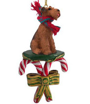 AIREDALE TERRIER DOG CANDY CANE CHRISTMAS ORNAMENT HOLIDAY XMAS gift pet - $14.95
