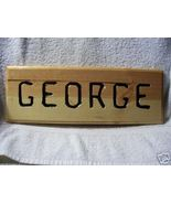 Hand Crafted Pine Wood Name Sign / Plaque - $12.00