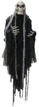 Scary Halloween Decorations Hanging Grim Reaper With Long Hair 5-Ft Prop... - $19.99