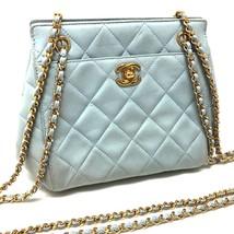 AUTHENTIC CHANEL CC Charm Matelasse Tote Bag Chain Bag Shoulder Bag Ligh... - $1,275.00