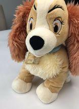 "Lady Tramp Plush Cocker Spaniel Puppy Dog Bean 12"" Stuffed Animal Disney Store image 4"