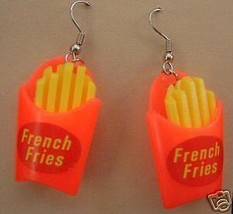 Funky FRENCH FRY FRIES EARRINGS Junk Fast Food Restaurant Snack Costume ... - $6.97
