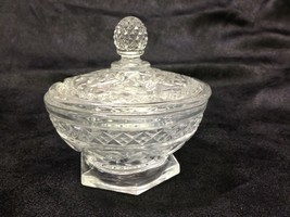 Imperial Cape Cod Glass Clear Crystal Covered Marmalade Bowl HTF  MINT - $44.31