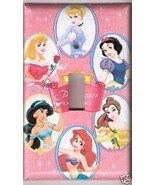 Single Light Switchplate Cover of Disney Princess Pink - $6.75