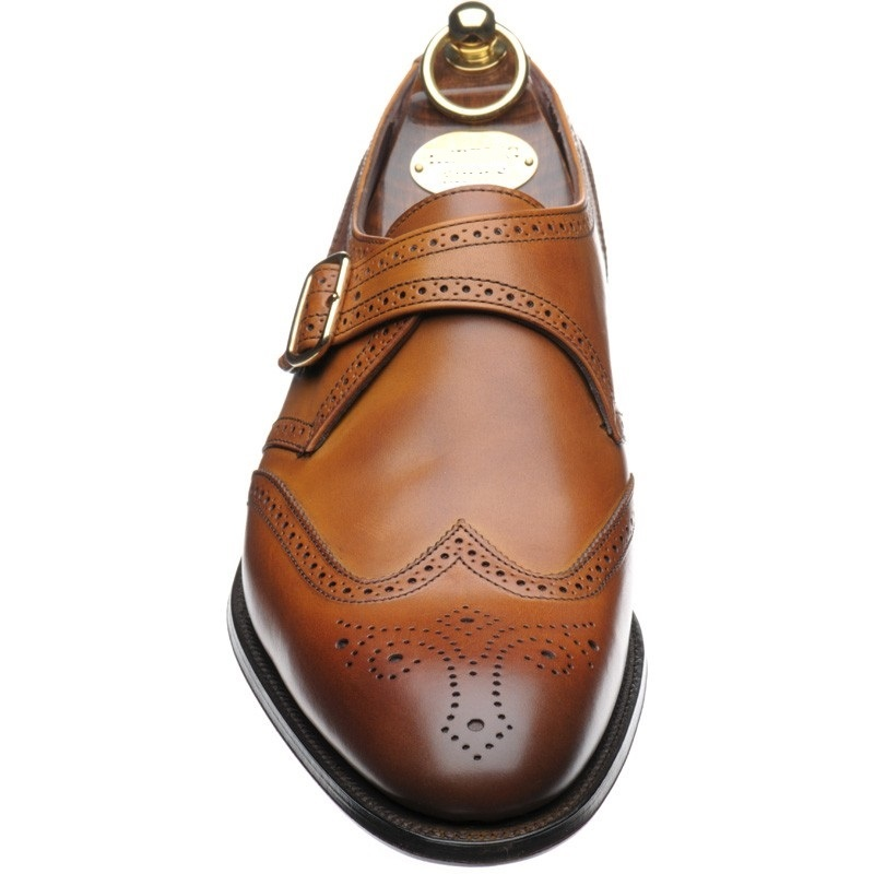 Handmade Monk Strap Shoes Men Brown Brogue